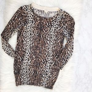 J. Crew Factory Leopard Sweater